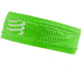 Compressport Thin On/Off banda para la cabeza, fluo green